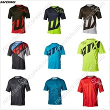 2020 Enduro bike jerseys motocross bmx racing jersey downhill dh short sleeve cycling clothes seven mx summer mtb jersey t-shirt cheap RACESTARS Polyester AUTUMN No Zipper Fits true to size take your normal size Knitted Quick Dry