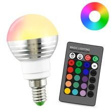 E14 16 Farbe Magie LED Nachtlicht Lampe bunte 110 V 220 V urlaub Dimmbare Bhne Licht 5 W 24key IR fernbedienung rgb Birne