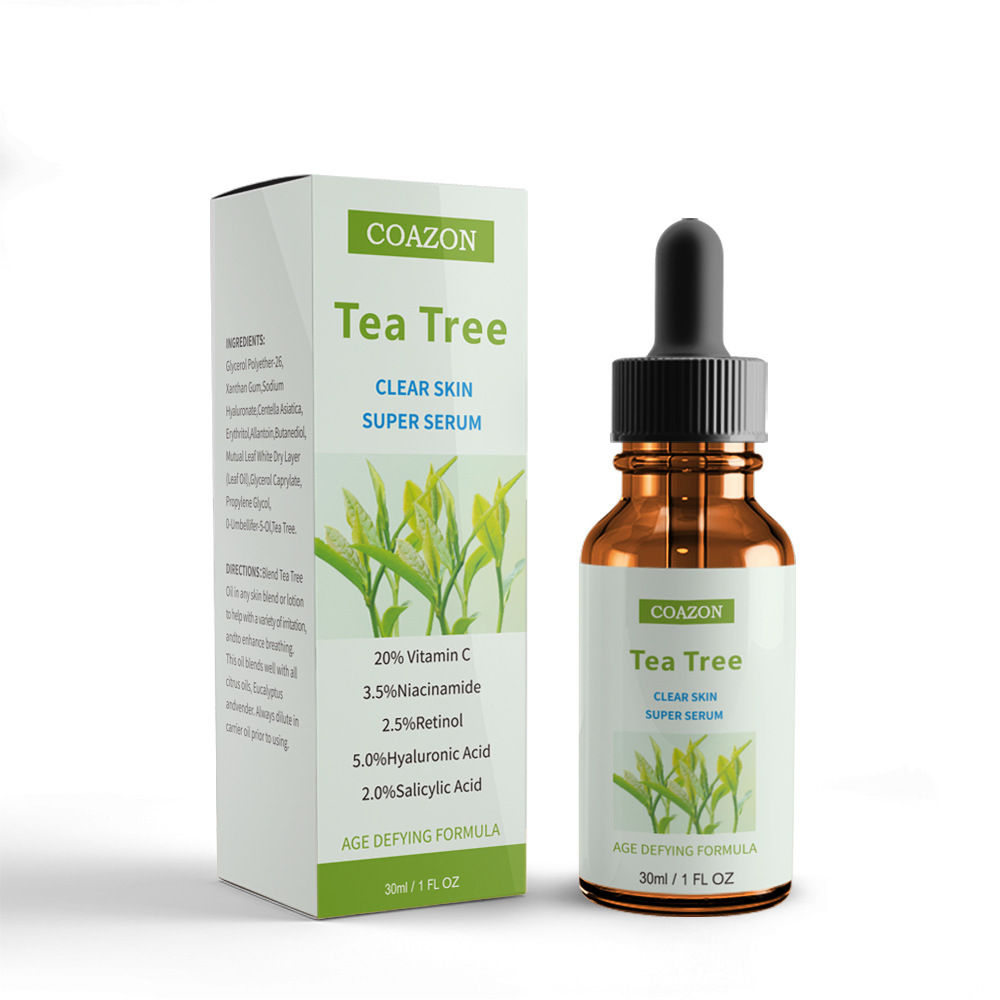 30 Ml Tea Tree Essential Oil Reduce Acne Marks Oil Control Hydrating Essence 100% Plant Extract Essential Oil @ 11