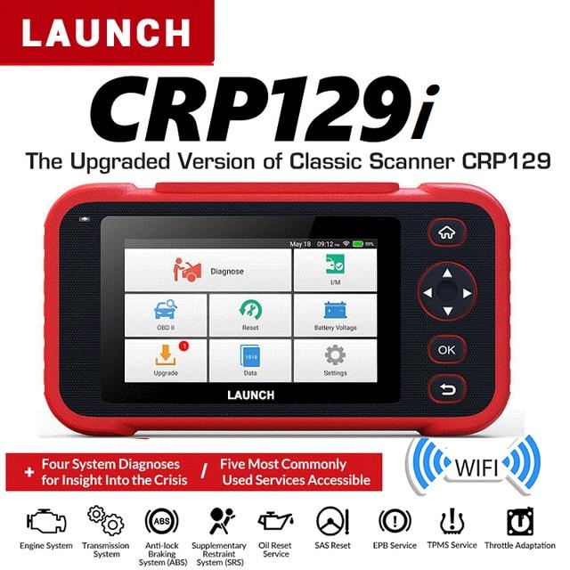 발사 CRP129i OBD2 자동 스캐너 Automotivo OBD2 엔진 부호 독자 SAS 에어백 SRS 기름 리셋 Creader obd 발사 OBD 자유로운 갱신