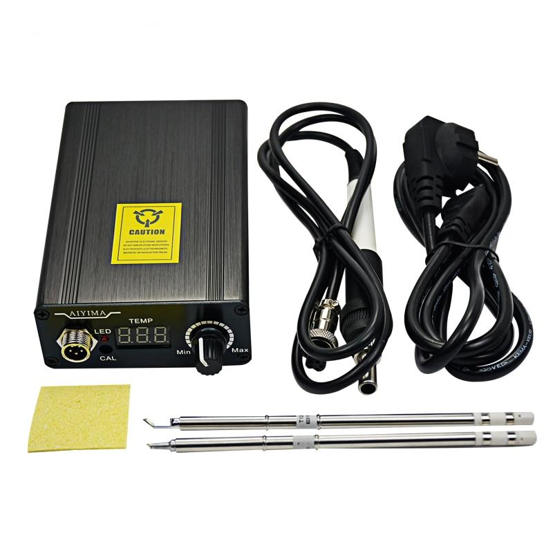 110V 220V T12 digitální páječka žehličky regulátor teploty EU - Svářecí technika - Fotografie 6