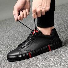 men Genuine Leather Shoes Men Flats Fashion Men's Casual