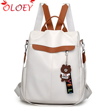2020 new brand designer leather ladies backpack wild quality anti theft bag ladies teen ladies travel bag luxury backpack Mochil