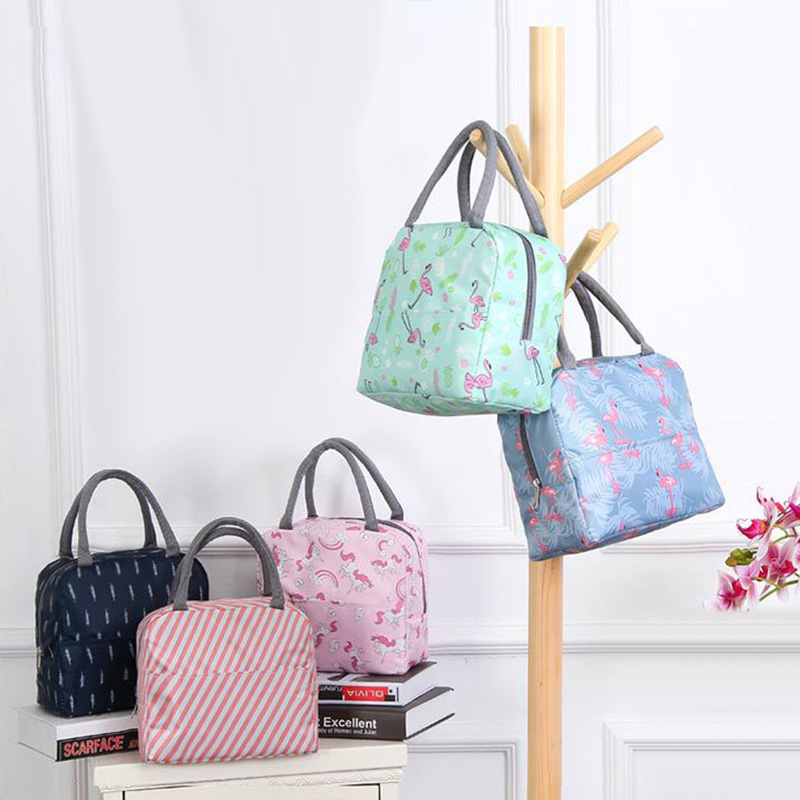 Image 2 - New Japanese Fresh Student with Meal Insert Bag Section  Insulation Lunch Bag Japanese style Portable Insulation Lunch BagBags