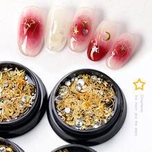 Hnuix mixte стили Луне Звезда Блеск для ногтей Стразы бижутерия