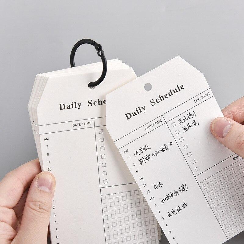 52 arkusze pierścieniowa klamra dzienny harmonogram notatnik Do zrobienia lista czas Sticky note planner planner biuro szkolne artykuły papiernicze