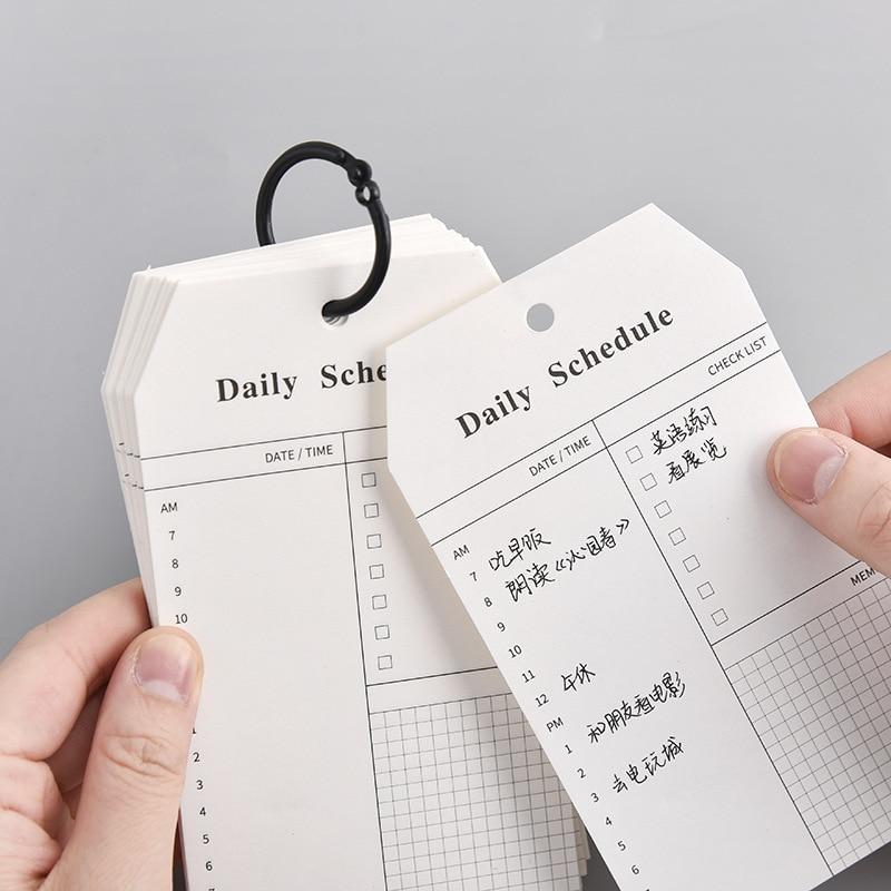 52 folhas anel fivela agenda diária bloco de memorando para fazer a lista de tempo pegajoso agenda planejador material escolar de escritório artigos de papelaria