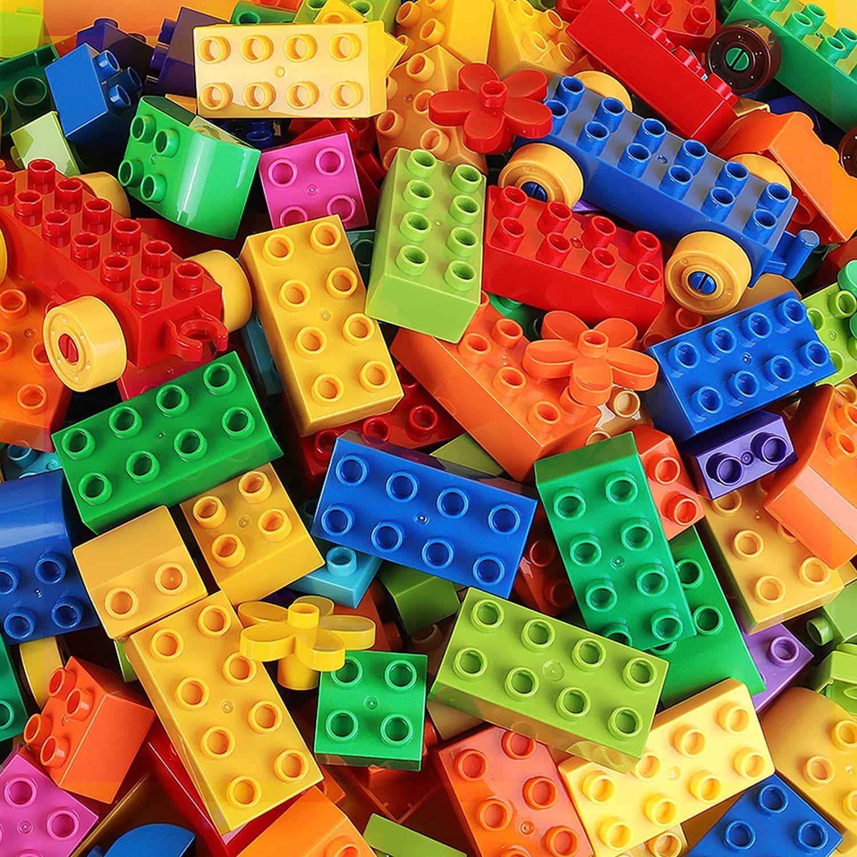DIY большой Размеры строительные блоки, детские цветные кирпич оптом кирпичики пластины совместим с Duplo блок детские развивающие игрушки