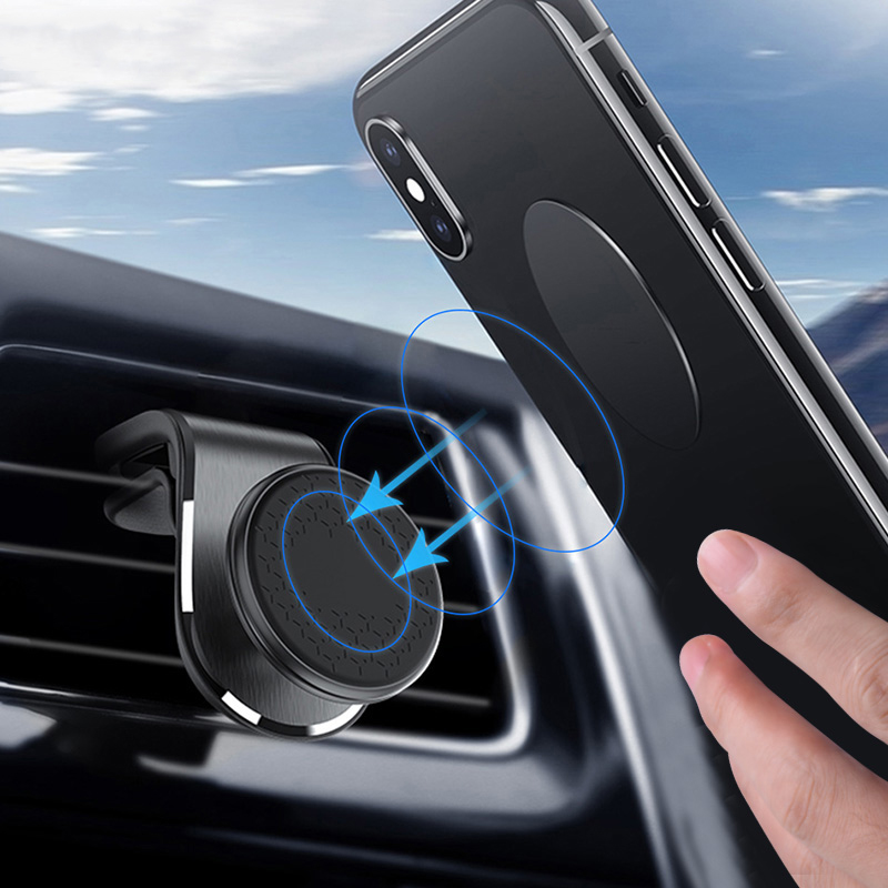 Upgrade Magnetic Car Phone Holder For Phone In Car Air Vent Mount Clip 360 Degree Magnet Stand Mount Bracket For IPhone 11