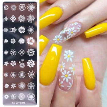 Christmas Designs Nail Stamping Plates Flower Geometry Animals DIY Gel Polish Nail Art Stamp Stencil Manicure Tools Template geometry flower nail stamping template negative space puzzle figure stamp nail manicure nail stamping plate