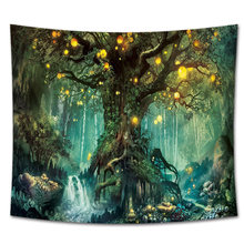 Tree Printed Living Room Forest Hanging Landscape Home Decor Bedspread Art Beach Wall Tapestry Background 3D Bedroom Floral Gift(China)
