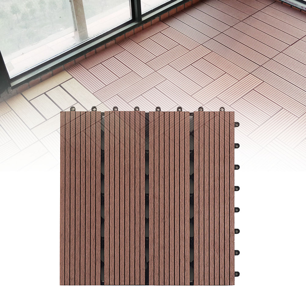 Tiles Easy Fit Anti-Corrosion 30x30cm Outdoor Waterproof Board Terrace DIY Splicing Accessories Garden Balcony Floor Decking