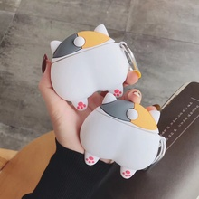Cat Dinosaur Earphone Case for Airpods 2 Case Cute Fish Cover for Apple Air pods Case Silicone Sun f