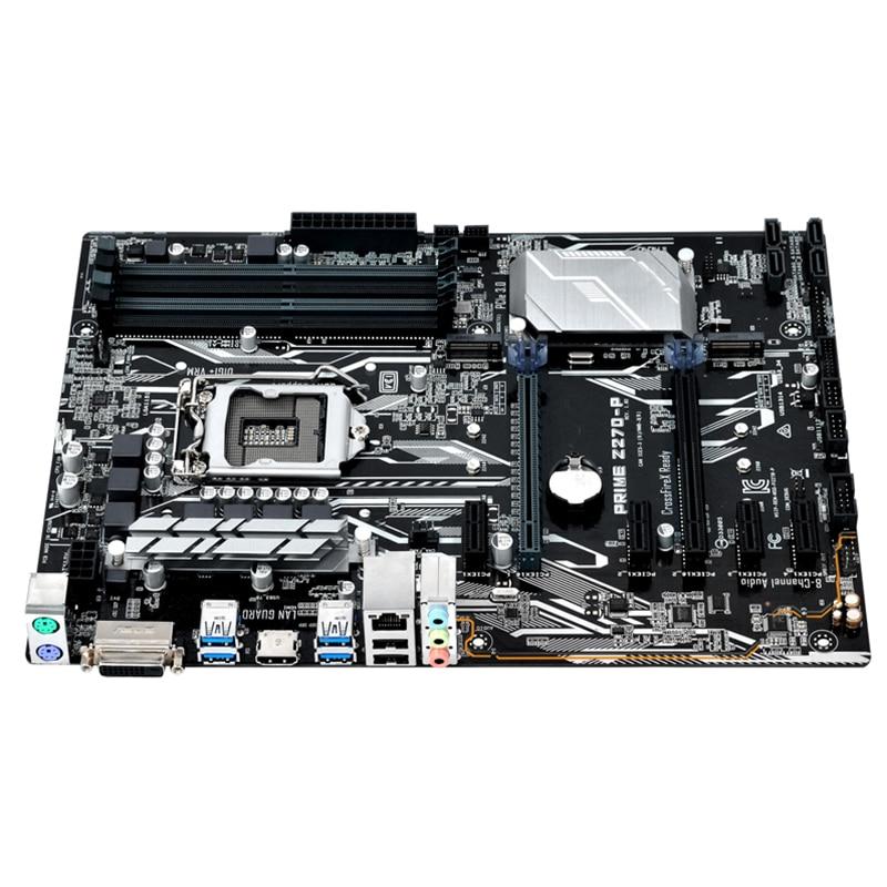 Original For ASUS PRIME Z270-P Desktop motherboard MB Z270 LGA 1151 DDR4 64GB ATX PCI-E 3.0 100% fully Tested Free shipping 9