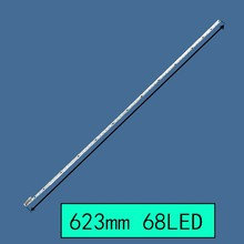 цена на FOR repair skyworth LCD TV LED backlight 50E510E Article lamp V500H1-ME1-TLEM9 screen V500HJ1-ME1 1piece=68LED 623MM