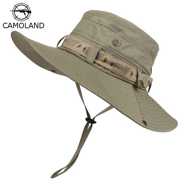 Waterproof Bucket Hat Summer Men Women Boonie Hat Outdoor UV Protection Wide Brim Panama Safari Hunting Hiking Fishing Sun Hat 1