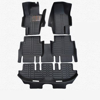 lsrtw2017 leather car floor mats for seat Alhambra 2010 2011 2012 2013 2014 2015 2016  2017 2018 2019 carpet rug accessories