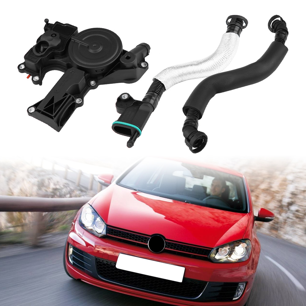 New Black Oil Separator PCV Valve Assembly 06H 103 495 A For Audi A4 Q5 TT VW Golf Jetta Seat Skoda 2.0TSI 06H103495A 06H103495