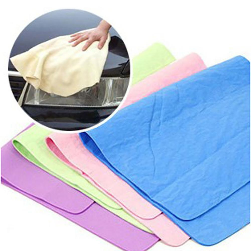 Car Wash Towel Microfiber High Absorbent Wipes Magic Cloth Dry Towel Synthetic Chamois  Leather Goods Auto Care Home Cleaning