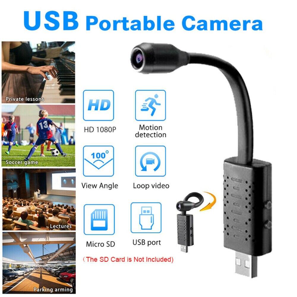 1080P HD Motion Detection Loop Video Mini camera Micro cam Small camera U21 Portable Smart Flexible USB Camera 360 degree|Mini Camcorders| |  - title=