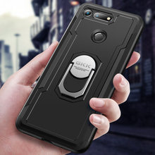 Original Case for Huawei Honor V20 Armor With Finger Ring Hard PC Soft Edge Cover for Honor V20 Case popsocket for phone case(China)