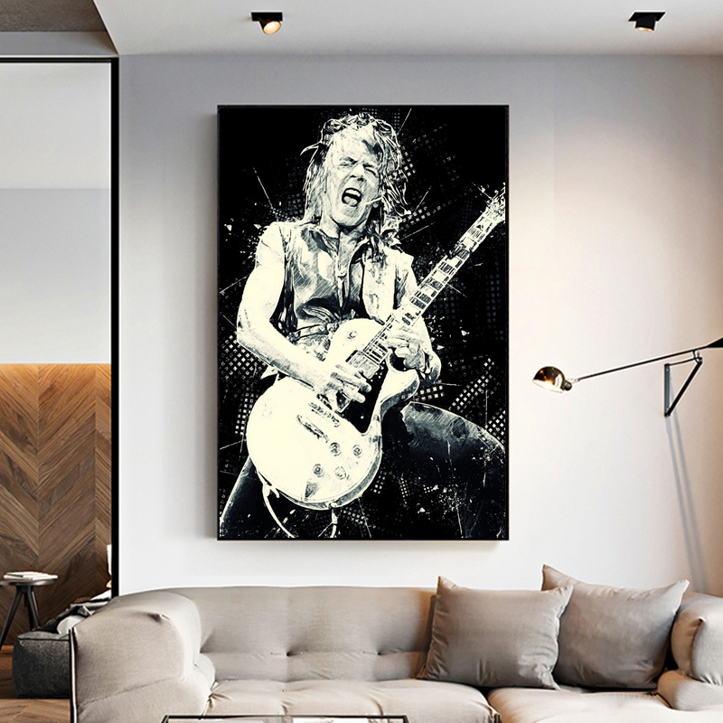 <font><b>RANDY</b></font> <font><b>RHOADS</b></font> Poster Art Canvas Painting Room Decor image