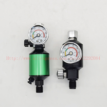 Spray Gun Air Regler mit Luftfilter Malen Spray Gun Air Manometer Luft Spray In-Linie Wasser trap Filter Werkzeuge