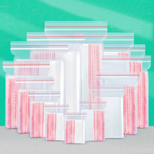 17 Sizes 100Pcs Clear Plastic Seal Zip Lock Poly Bag Reclosable Candy For Snacks Storages Resealable Clear Bags Closure pockets