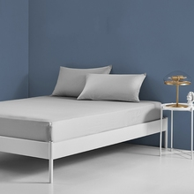 1pcs 100% polyester solid bed mattress set with four corners and elastic band sheets hot