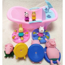 Peppa Pig Little Girl George Bath Toys Play Water Set Toy Action Figure Model Doll Family Dad Mom Kids Interactive High Qual