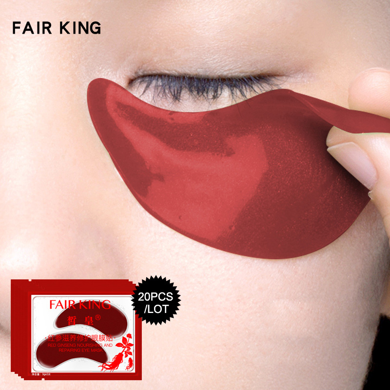 10/20pair Red Ginseng Eye Mask Eye Patches For Face Care Dark Circles Remove Mask Eyes @ME88