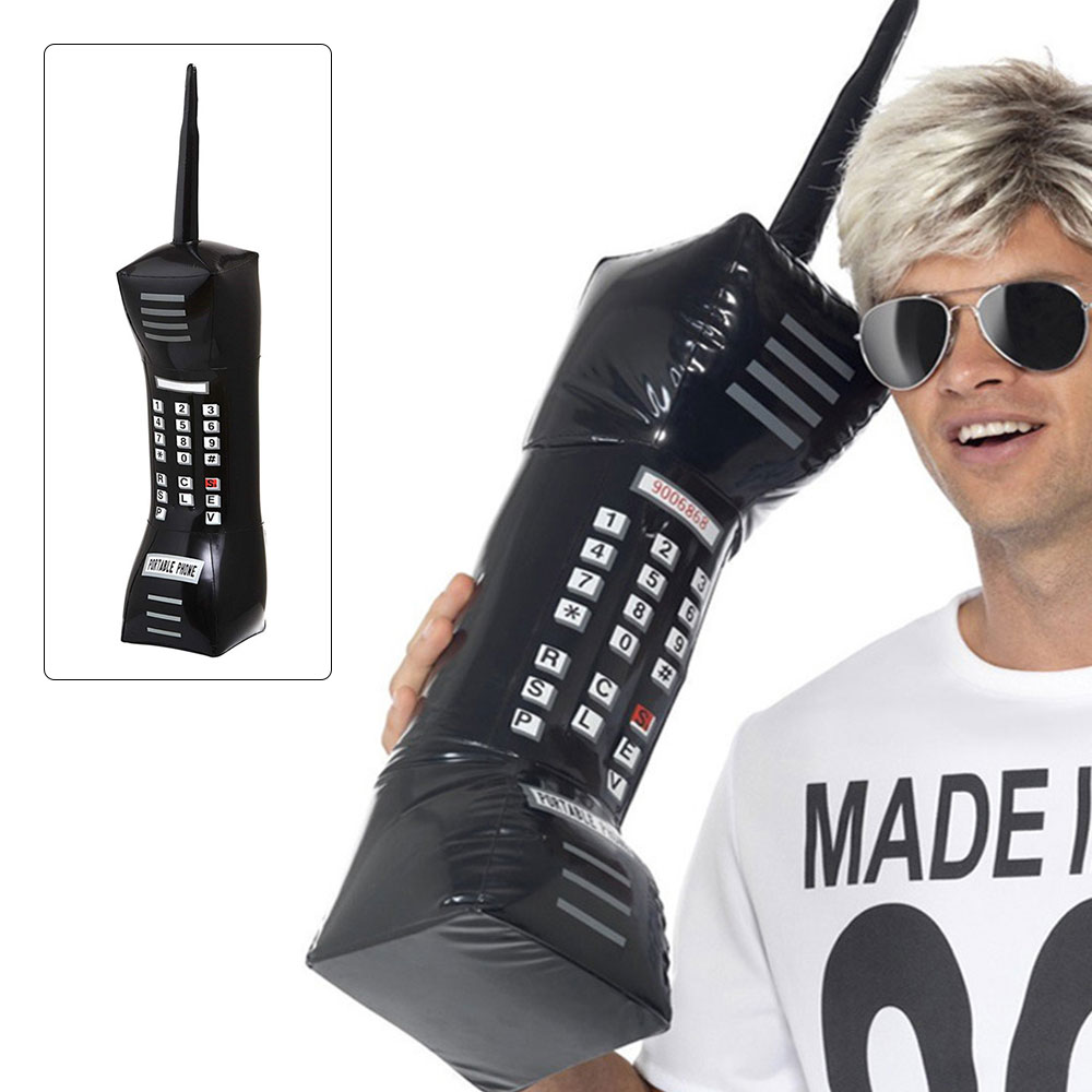 Inflatable Mobile Phone 80's 90's Party Decorations Supplies Retro Cell Dress Accessory Phone Booth Props Inflated Pvc Toy