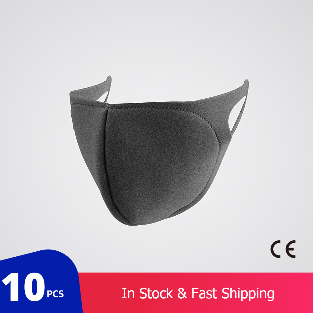 10 Pcs/bag KN95 CE Certification Dust Respirator Mask Pad Against Pollution Breathable Mask Non-woven Fabric(not For Medical Use