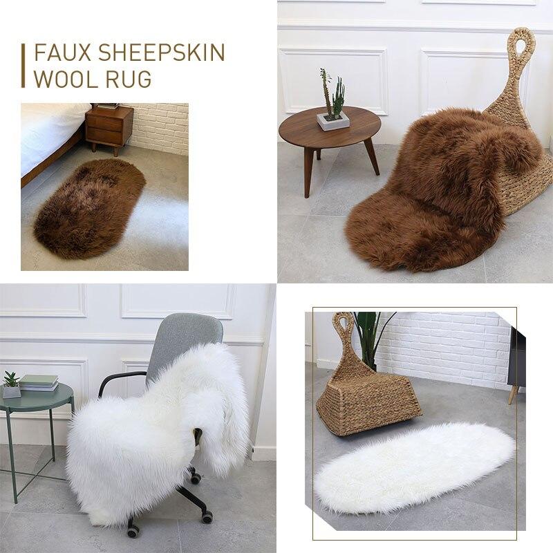 Tapis sol chambre multicolore laine tapis Ellipse chaise tapis salon chaud décoration maison canapé moelleux tapis 180X100cm