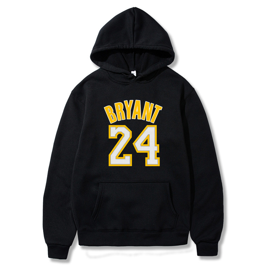 Mens Hoodies L.A Lakers 24 Legend Print Basketball Sports Hooded Round-neck Pullover Sweatshirts Men Clothing Coat