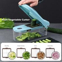 8 шт. набор лезвий мандолина фрукты овощи слайсер резак еда измельчитель слайсер Dicer с чистящей щеткой ящик для хранения кухонный инструмент