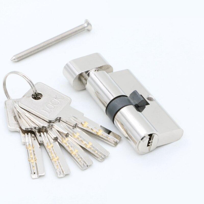 Door cylinder 55 60 65 70 75 80 85 90mm Security Copper Lock Cylinder Interior Bedroom Living Handle