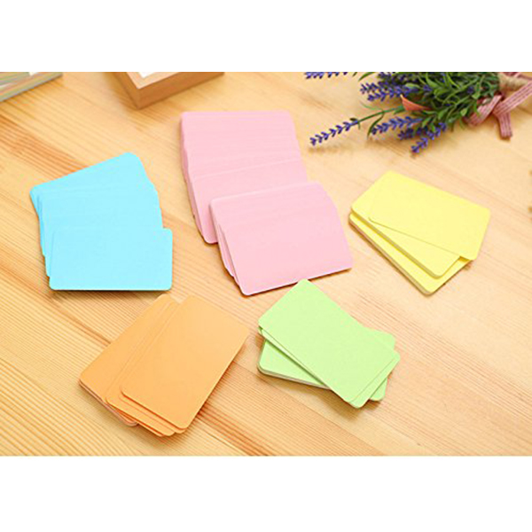 FFYY-100 Memory Cards Blank DIY Graffiti Word Cards Net Small Memo Pad Blocks Memorandum Note Blank Word Cards