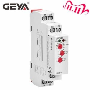 Image 1 - משלוח חינם GEYA GRI8 01 הנוכחי ניטור ממסר הנוכחי טווח 0.5A 16A AC24 240V או DC24V הנוכחי חישה ממסר