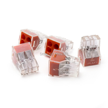 цена на 100PCS/LOT Free Shipping Push-Wire Free Shipping 773-104 Wire Connector Conductor-Terminal-Block Junction-Box 4Pin PCT 104