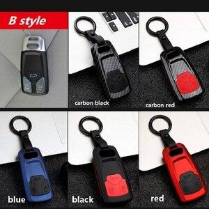 Image 5 - Capa para chave de carro, capa com gel de fibra de carbono abs + sílica para audi q3 q5 sline a3 a5 a6 c5 jaqueta do carkey a4 b6 b7 b8 tt 80 s6 c6, com controle remoto