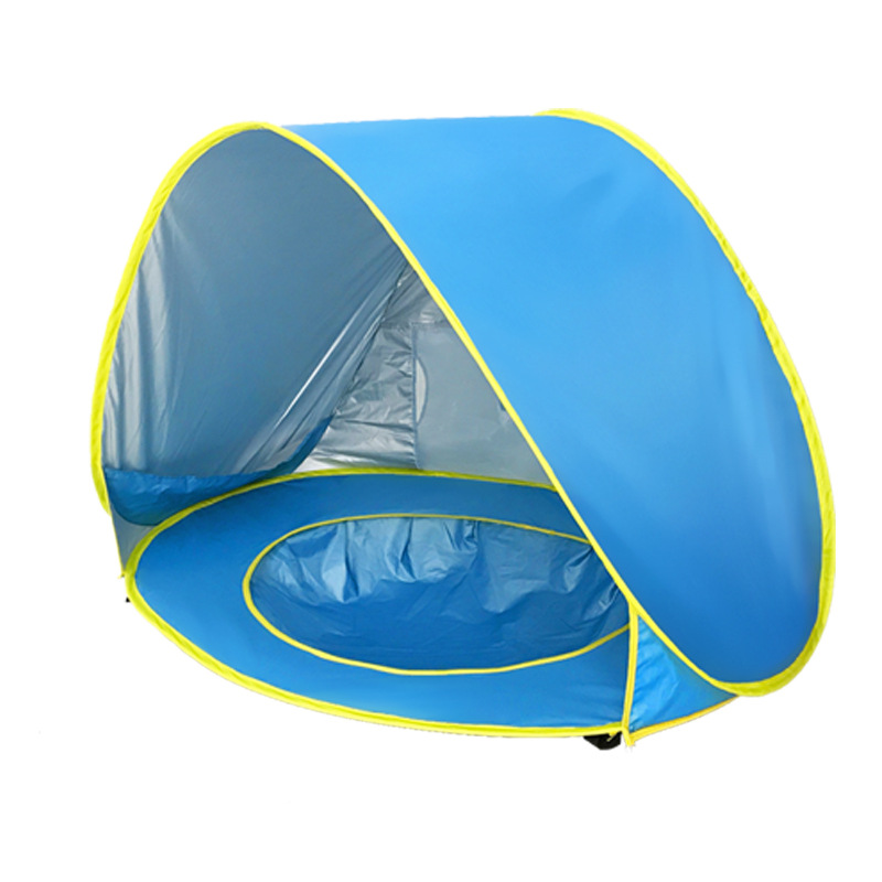Baby Beach Tent Portable Waterproof Build Sun Awning UV-protecting Tents Kids Outdoor Traveling Sunshade Play House Toys T2205