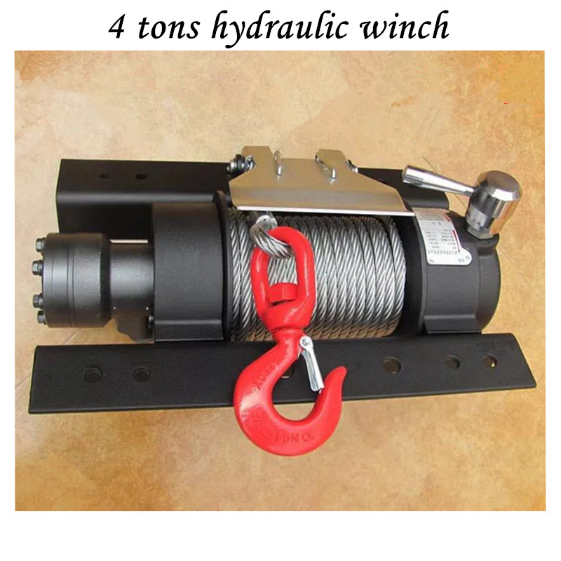 Traction Hydraulic Winch 4 Tons Hydraulic Barrier Clearing Winch 4 Tons Winch With 25 M Wire Rope
