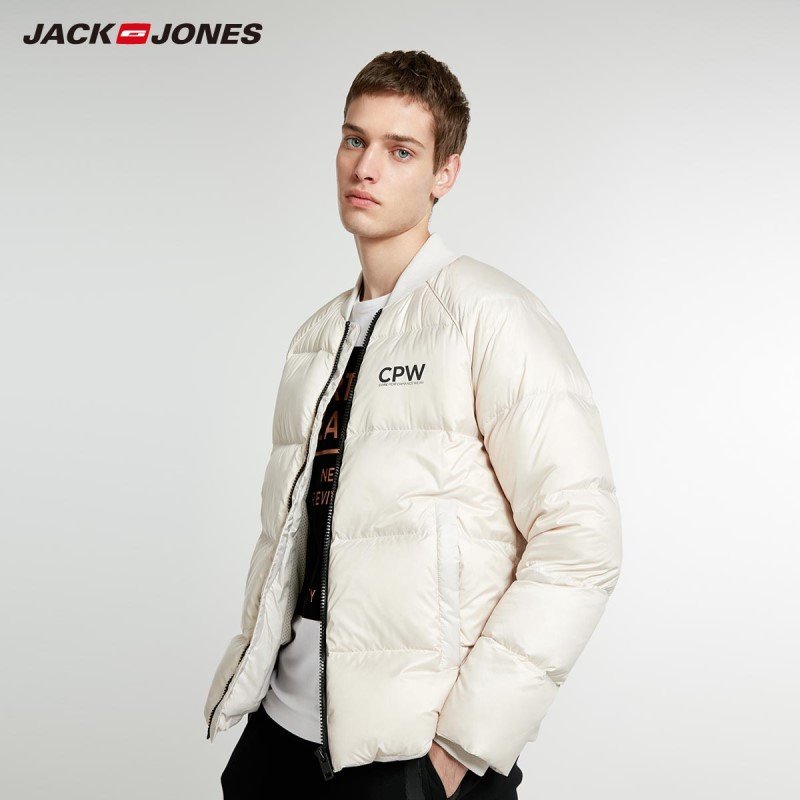 JackJones Men's Winter Baseball Collar Short Warm Down Jacket Style 218412544