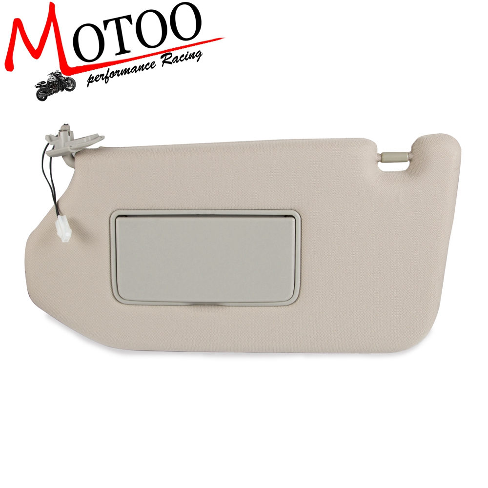 Driver Sun Visor for Nissan Pathfinder 2013-2019 <font><b>Infiniti</b></font> <font><b>QX60</b></font> 2014-2019 <font><b>JX35</b></font> 2013 with Lamp Replace 964009PB0A image