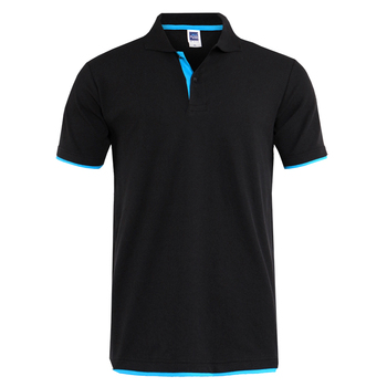 Letnia koszula męska bawełniana koszulka Polo męska duża koszulka Polo sportowa koszulka 3XL męska koszulka Polo odzież marki krótki rękaw tanie i dobre opinie CN (pochodzenie) REGULAR Na co dzień NONE Przycisk Diamenty Stałe Bawełna mieszanki Oddychające short Casual Polos solid