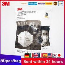 50 Pçs/lote 3M 9501 +/9502 + KN95 Reutilizáveis Máscara de Poeira do Respirador de Partículas Cabeça Anti-Neblina Máscaras Protetoras 3M Originais