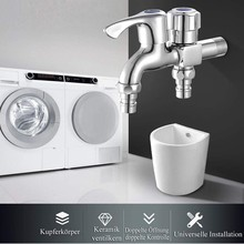 Washing Machine Faucet With Quality Zinc Alloy Home Multifunctional Double Outlet Washing Machine Faucet
