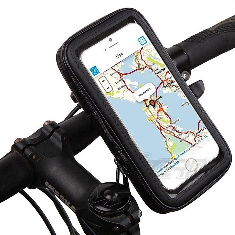 Waterproof Rain Bicycle Motor Bike Handlebar Mount Holder Case Phones Box SPM