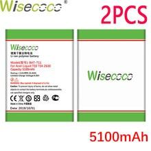 Batería de BAT-T11 WISECOCO 2 uds 5100mAh para Acer Liquid T03 T04 Z630 Z630S batería de última producción + número de seguimiento
